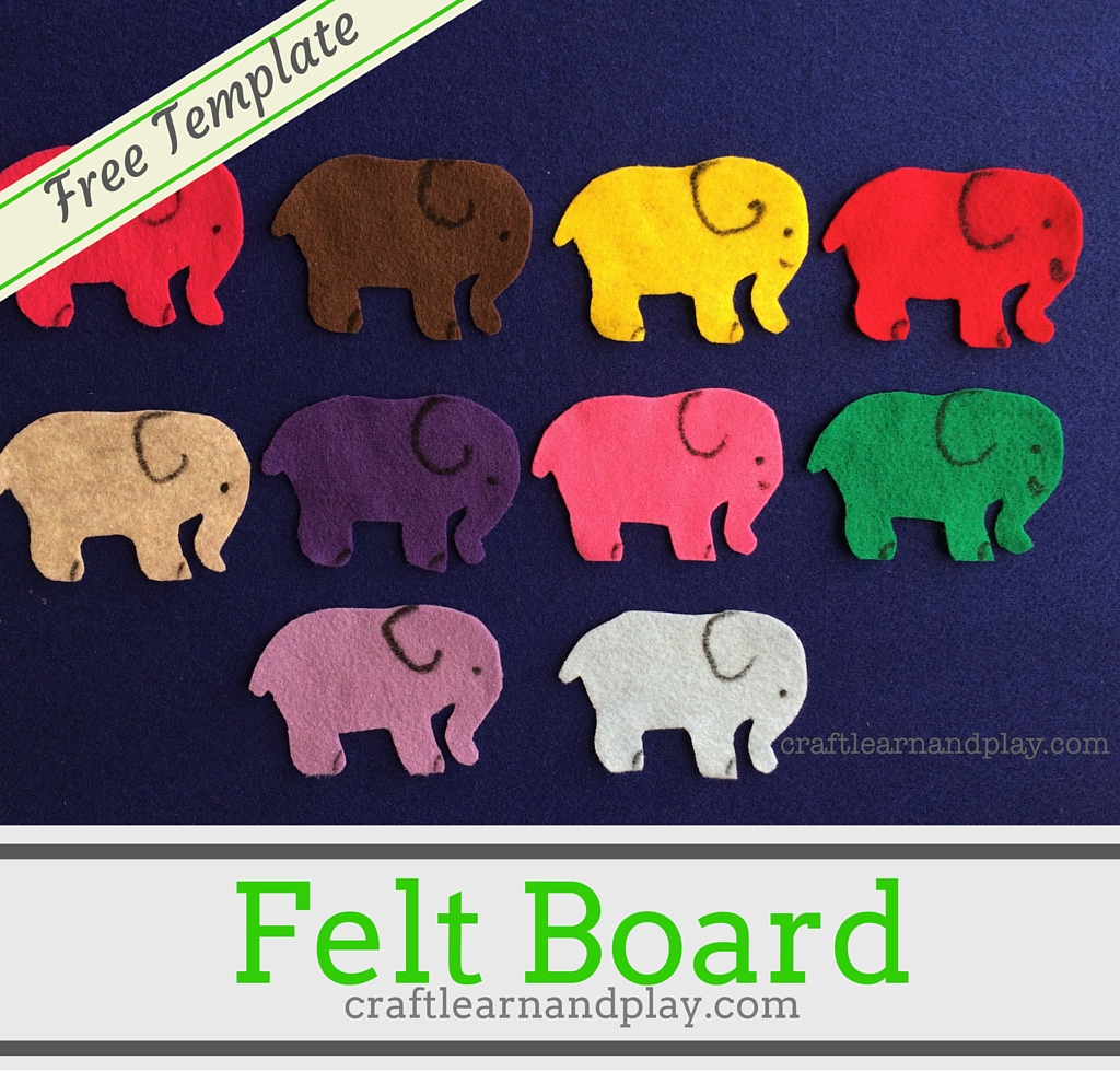 felt storyboard templates - felt board one elephant went out to play craft learn