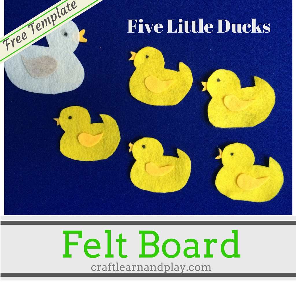 picture regarding Printable Felt Board Stories named Felt board reviews - 5 small ducks went out towards participate in