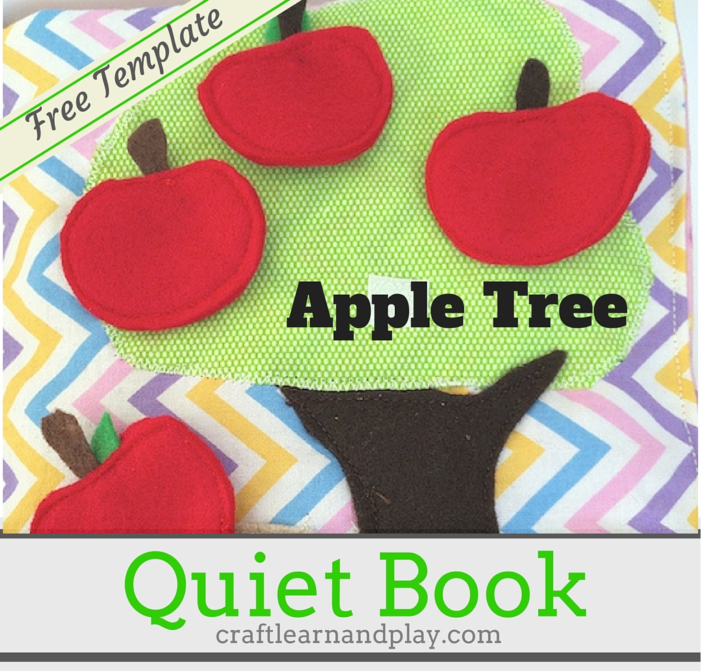 picture regarding Printable Quiet Book Templates identified as Serene E-book Designs - Apple Tree Active E-book Practice Craft
