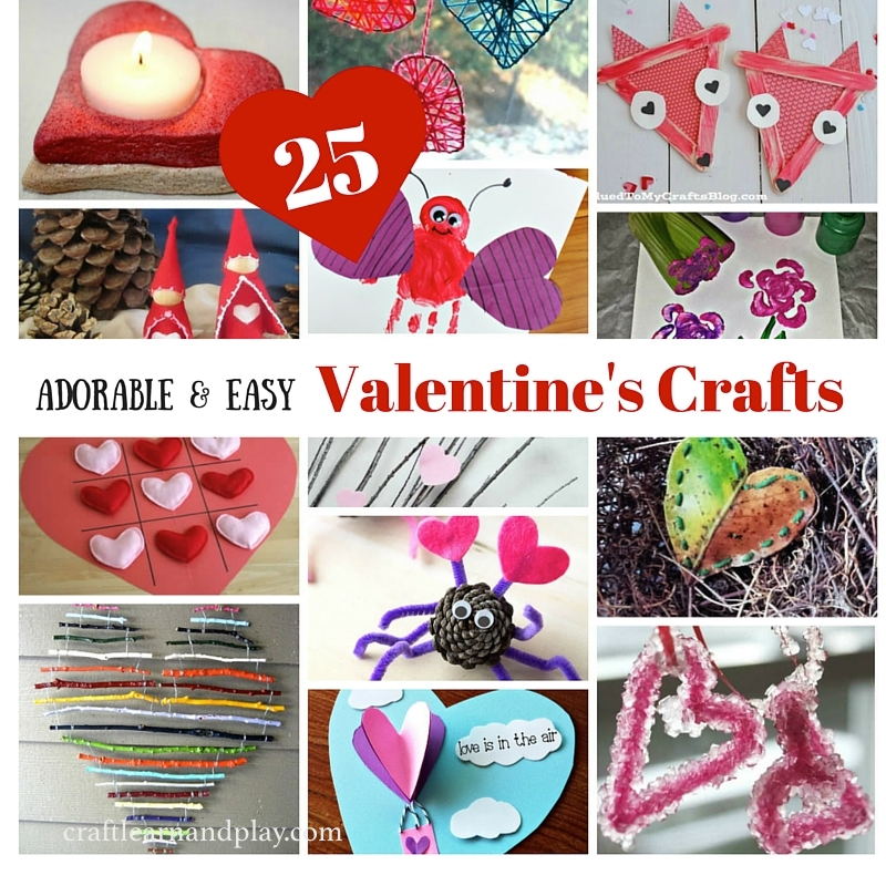 25 Adorable and Easy Valentine's Crafts