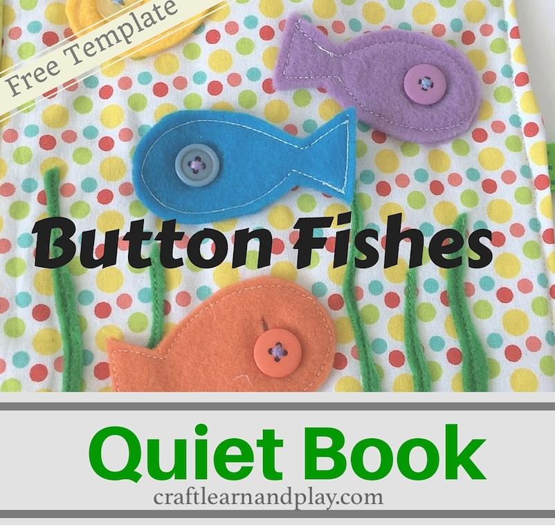 Quiet Book Ideas Button Fishes Quiet Book Template Craft Learn