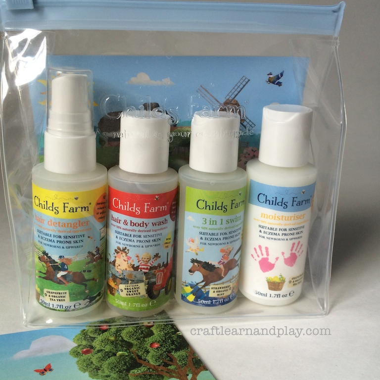 Childs Farm organic baby toiletries