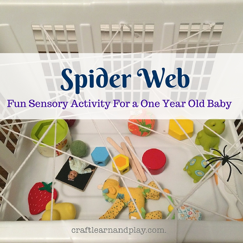 Spider Web Activity for a one year old baby