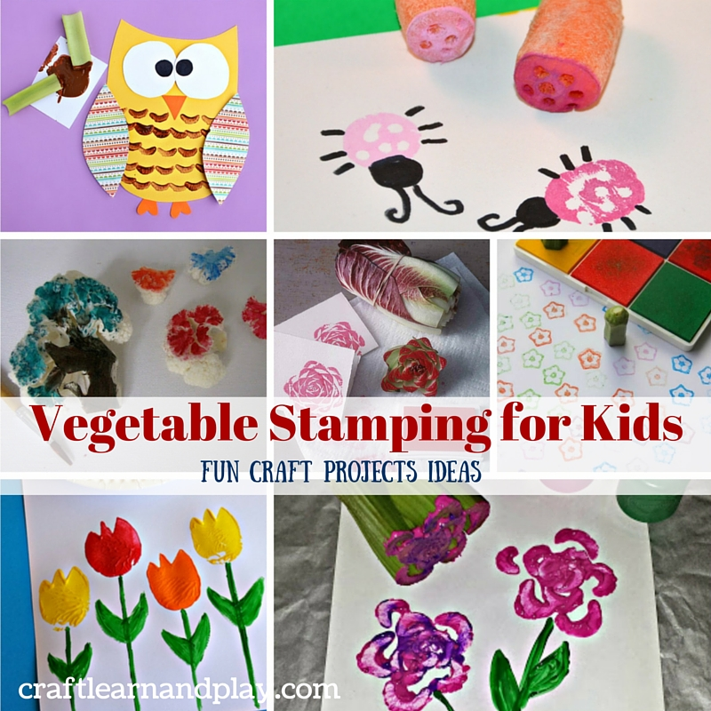 Vegetable stamping for kids - fun craft project ideas