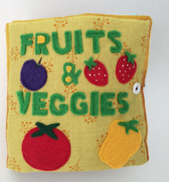 Fruits and veggies activity book toy for baby and toddler