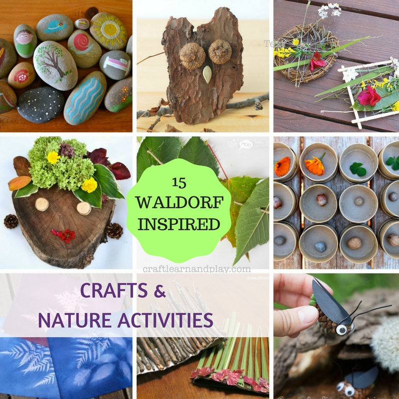 15 ultimate waldorf inspired crafts and nature activities for Nature crafts for kids