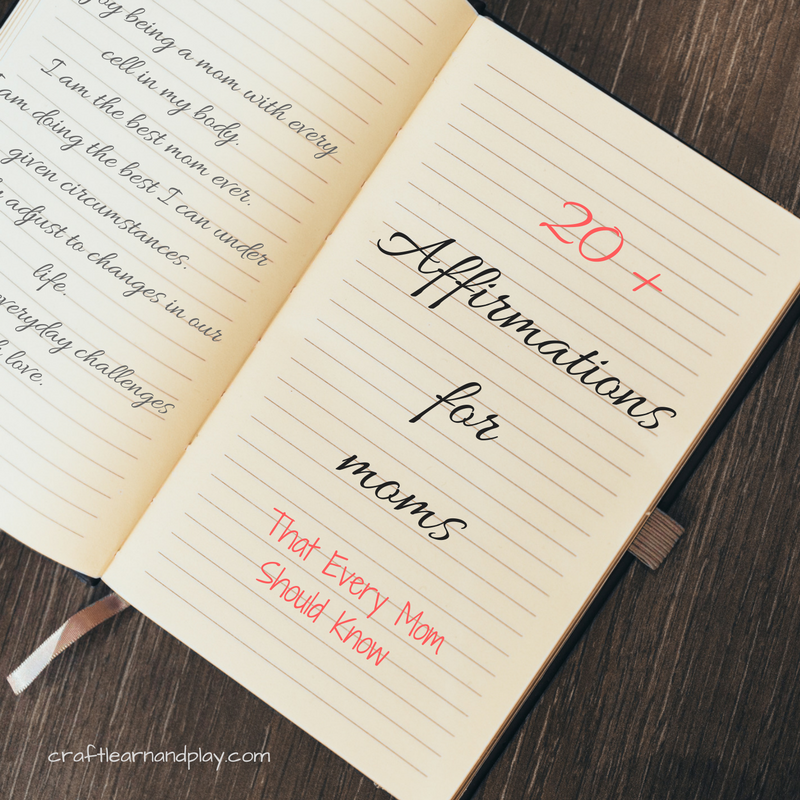 20 powerful daily affirmations for moms