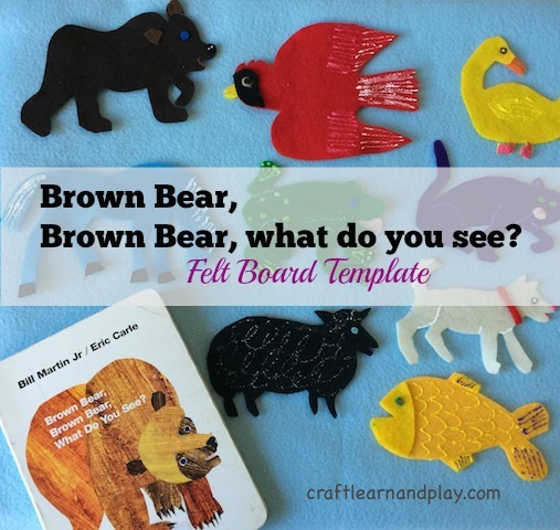 image about Printable Felt Board Stories titled Brown undergo, brown undergo what do oneself look at - Felt Board Template