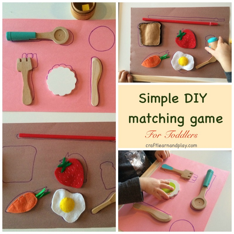 Simple DIY matching game for toddlers