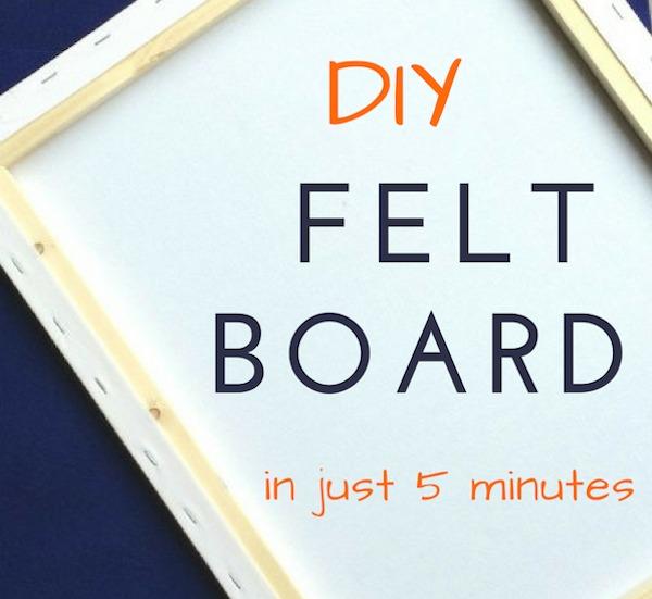 how to make a felt story board